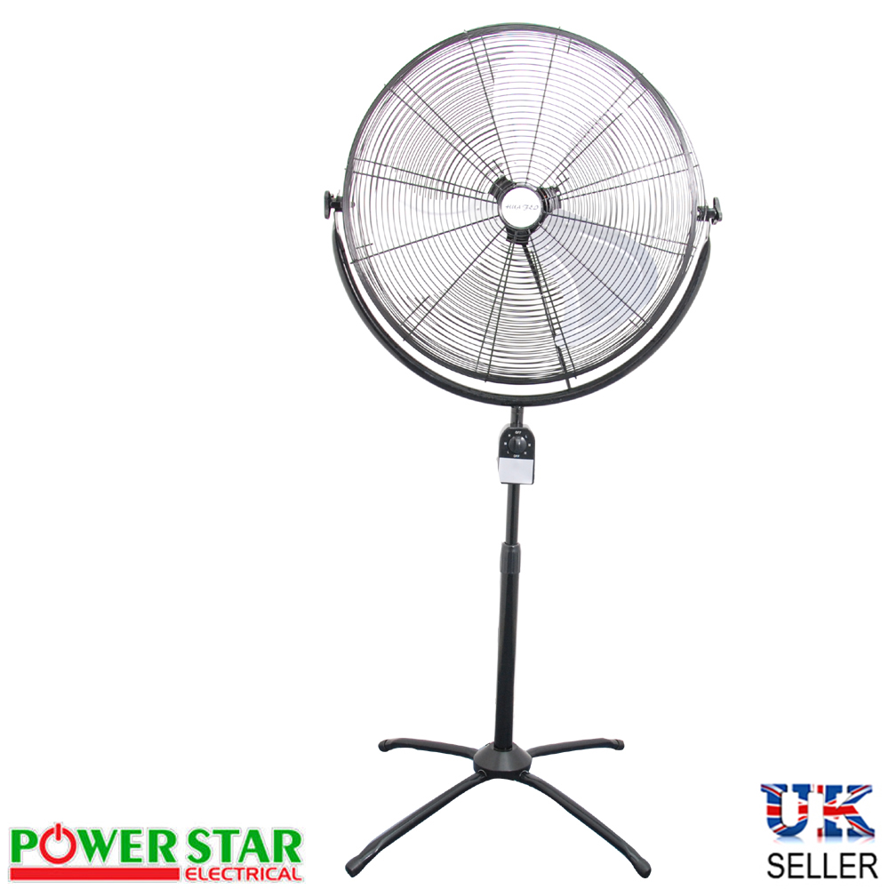 Powerful Floor Fans : High power pedestal floor oscillating velocity